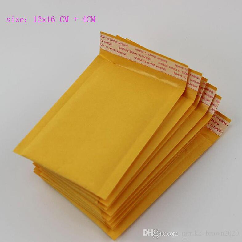 جودة عالية 4.7 * 6.3 بوصة 12 * 16 سنتيمتر + 4 سنتيمتر كرافت فقاعة بريدية مغلفات التفاف أكياس مبطن مغلف البريد التعبئة الحقيبة