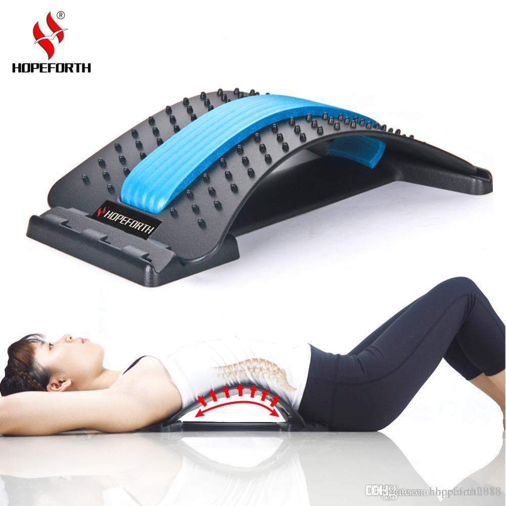 Magic Stretcher Back Massager Acupuncture Lower Lumbar Pain Spine Support Relief