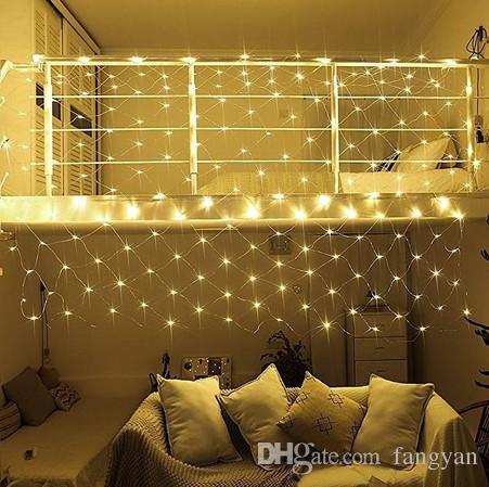 LED Fairy String, 9.8ft x 6.6ft 200 LEDs 8 Modi Net Mesh Tree-Wrap Lichter für Hochzeitsgarten Home Dekorationen