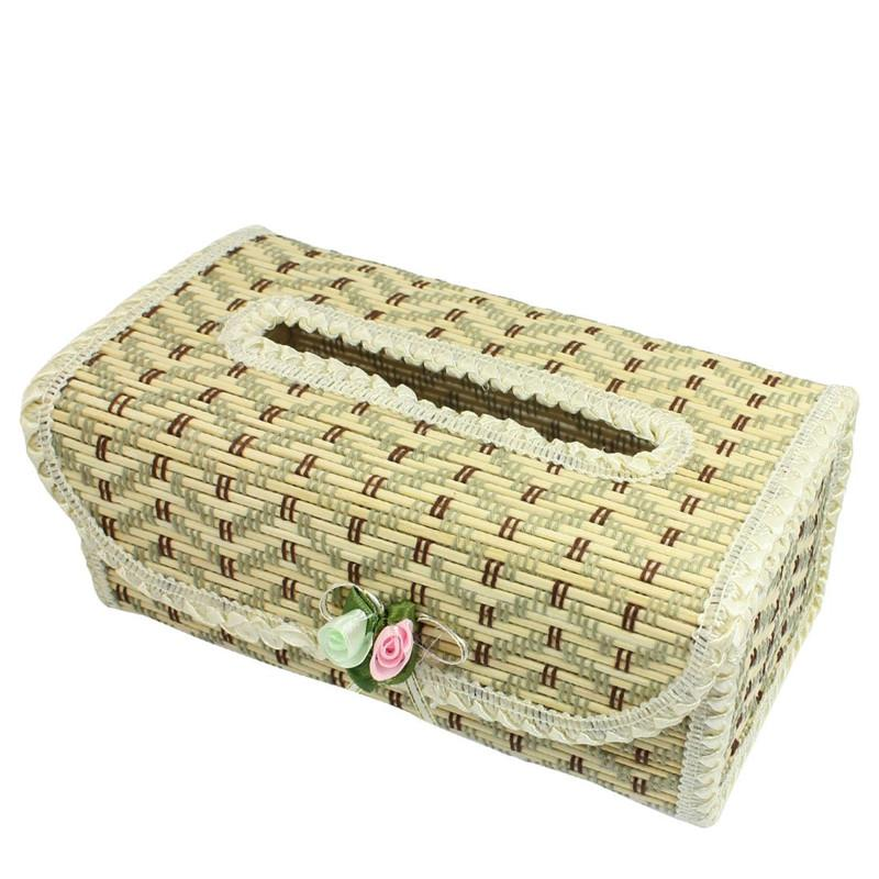 1PC Bamboo Tissue Box Container Towel Napkin Tissue Holder Paper Dispenser Fashion Holder Case for Office Home Decoration