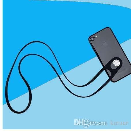 الهاتف الخليوي الحبل الرقبة الشريط المقود آيفون 6 6 ثانية 7 8 5 5 ثانية 5c زائد سامسونج الروبوت الهواتف الذكية سيليكون قابل للسحب للانفصال