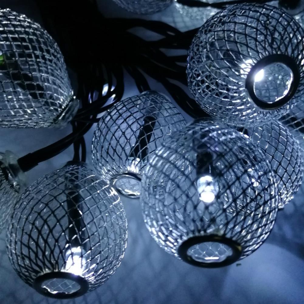 Serie de lámpara de alambre de plata lámpara de exterior impermeable al aire libre serie del día de Navidad decoración de la fiesta de la fábrica venta directa de la fábrica