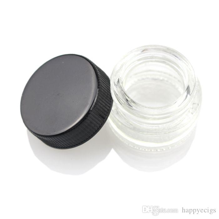 MOQ 50PCS Food Grade Non-Stick Glass Container Wax Dab Oil Jar 5ml Dabber Dry Herb Concentrate Container E cigs Cigarette