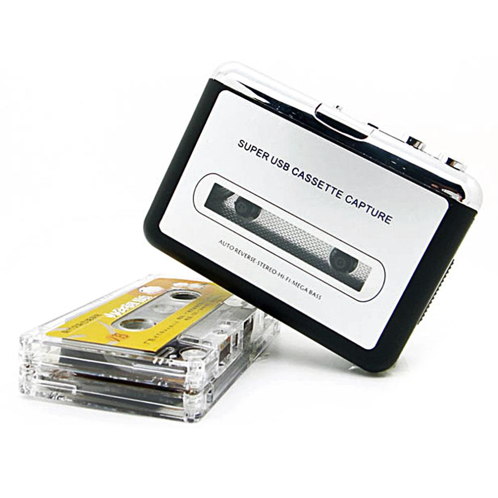 Freeshipping USB2.0 Portable Tape to PC Super Cassette To MP3 Audio Music CD Digital Player Converter Capture Recorder +Headphone