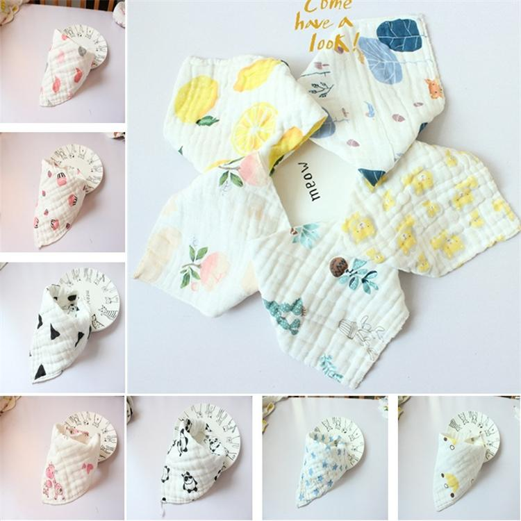 31 style high quality baby bibs lunch Bibs / Towel Saliva Baby Children الرضع 8 layps of gaze Burp Cloths T5I058