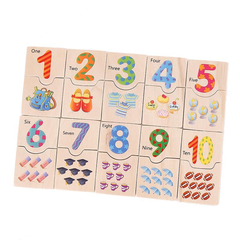 Деревянные головоломки игрушки дети раннего образования головоломки доска цифровой обучения игрушки обучения и развивающие игрушки