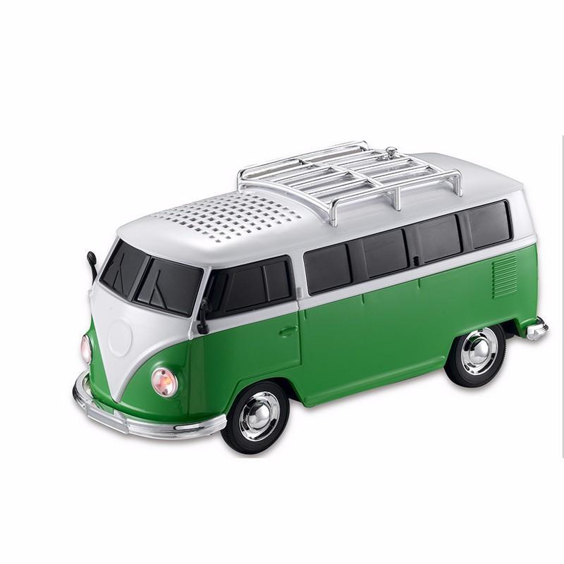 1PCS High quality colorful mini speaker car shape mini bus speaker support FM +U disk Insert Card mini speaker MP3 player