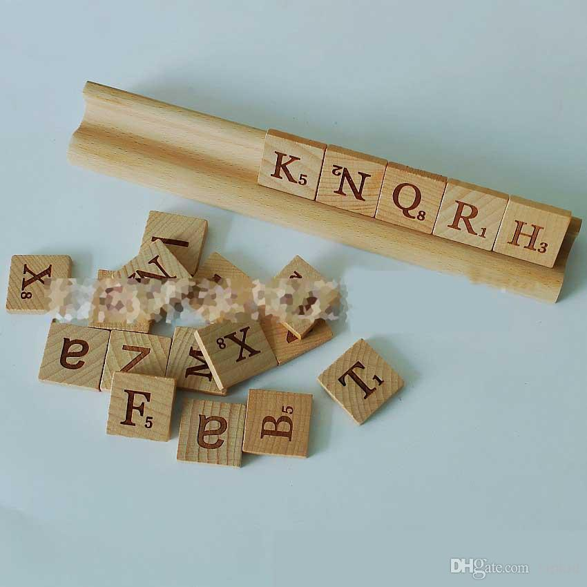 Wooden Blocks 26 English Letters/DIY Spelling Words Letter Wood Prints Natural Wood Blocks 100 Pieces/Package