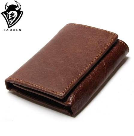 RFID Wallet Antivol Scanning Portefeuille En Cuir Hasp Leisure Men Mini En Cuir Étui Portefeuille Mini Carte De Crédit Porte-Monnaie