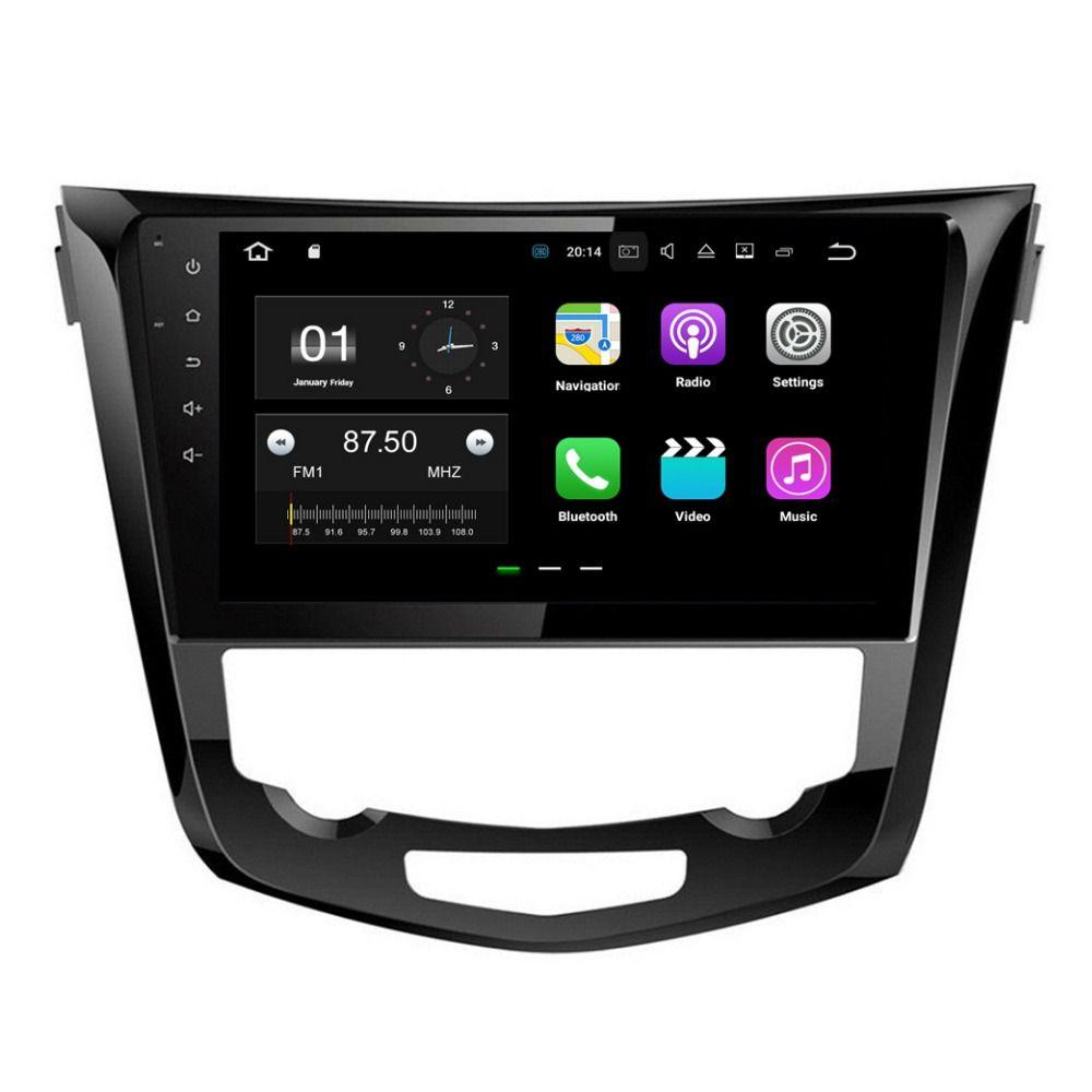 """10.1 """"أندرويد 7.1 سيارة راديو GPS رئيس وحدة الوسائط المتعددة سيارة دي في دي لنيسان قاشقاي إكس تريل 2013-2015 مع 2GB RAM بلوتوث مرآة رابط"""