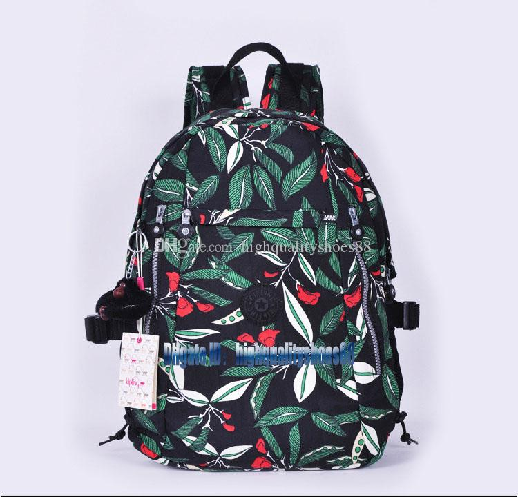 Men madam Ultralight stripe zipper waterproof Nylon monkey star PRINTED Multicolor pocket backpack City Pack in common use Pack K502-03