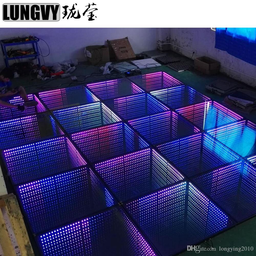 8 قطعة / الوحدة 3d إنفينيتي مرآة 3d المحمولة rgb مرآة rgb loddance الطابق ديسكو dancefloor ضوء حزب في الهواء الطلق
