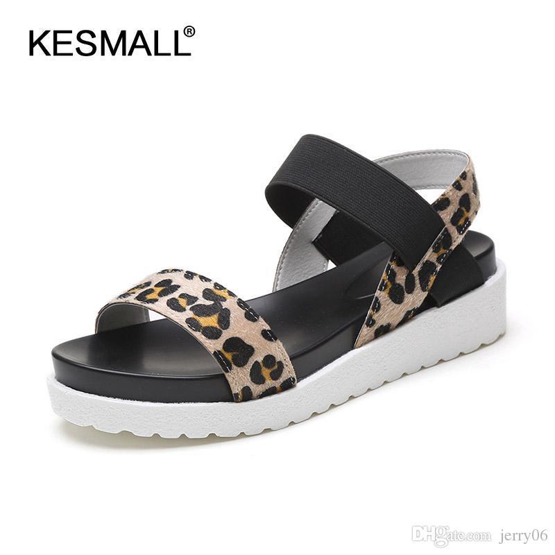 Scarpe estive Vendita calda sandali donna 2018 peep-toe piatto Scarpe sandali romani Scarpe da donna sandalie mujer sandalias di alta qualità
