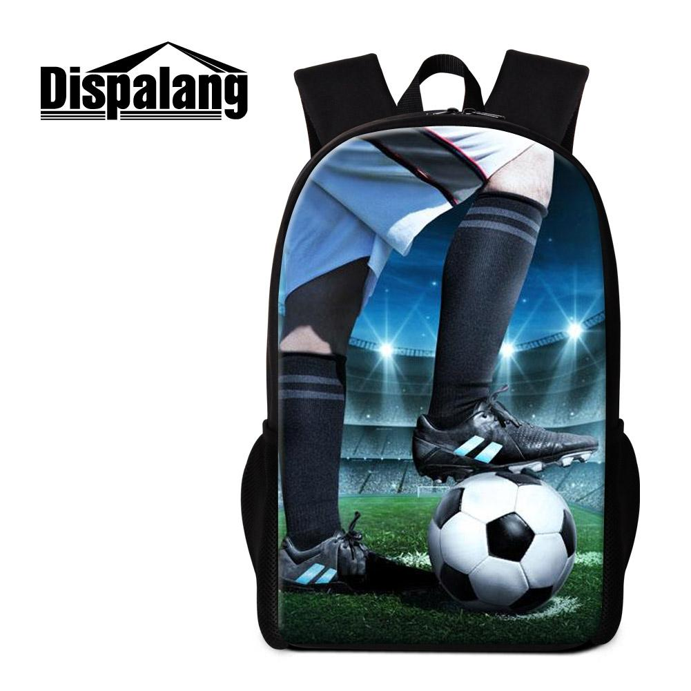 School Backpacks Patterns Soccer Printing Bookbag for Teenagers High Class Students Bagpack Outdoor Day Pack for Children Girls Mochilas