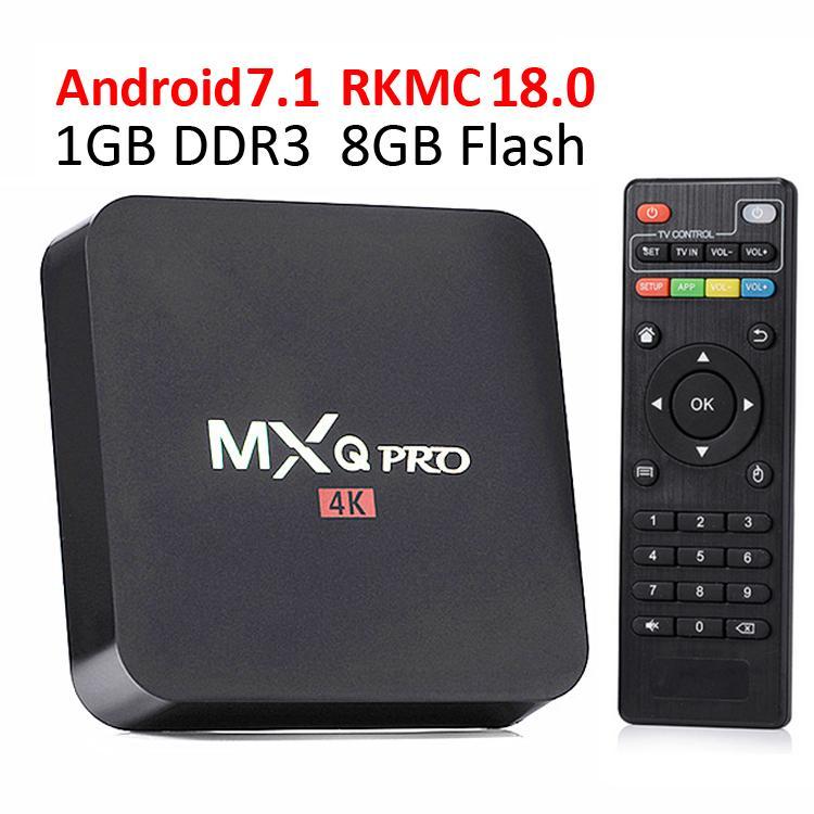 MXQ Pro Android 7.1 TV Box RK3229 Allwinner H3 Quad Core 1GB 8GB 4K Wifi H.265 Discount Streaming Media Player