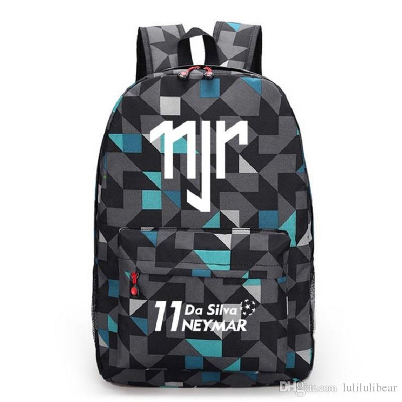 Neymar JR قماش ظهره الرجال النساء حقائب سفر حقيبة بوي فتاة حقيبة مدرسية للمراهقين الكرة الكرة حقيبة mochila اجتماعيون