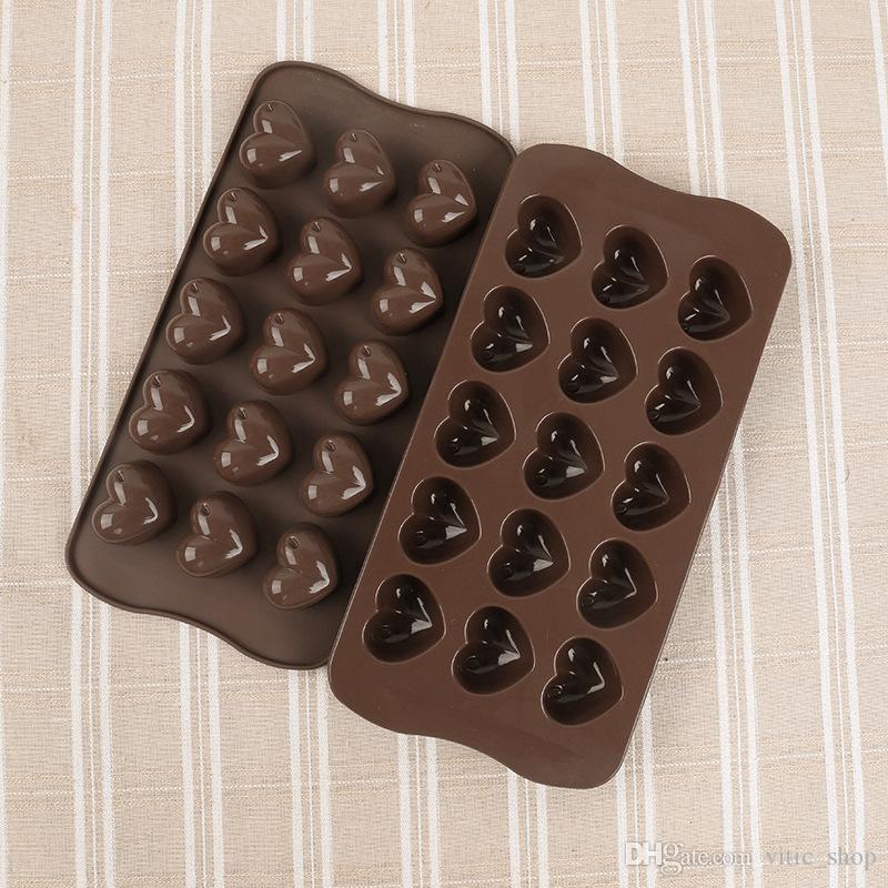 15 orificios, forma de fresa, 15 agujeros, forma de tarta de fresa, 1 unidad sina Molde de silicona para tarta