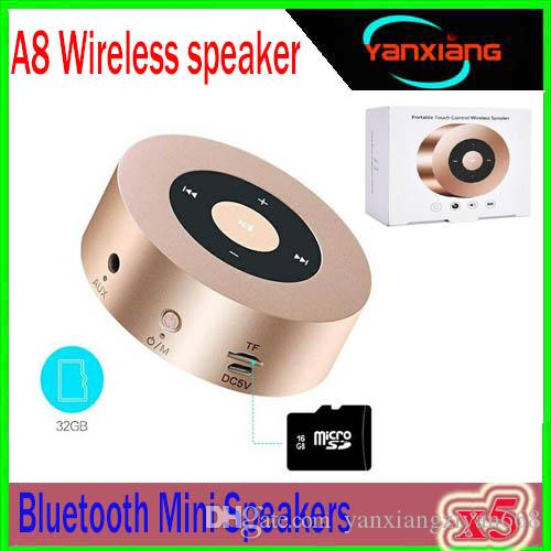 Mini Bluetooth Speaker Keling A8 Portable Screen Design Wireless Music Player with Mic Support TF Card for iPhone 7 iphone 7 Plus YX-A8-5