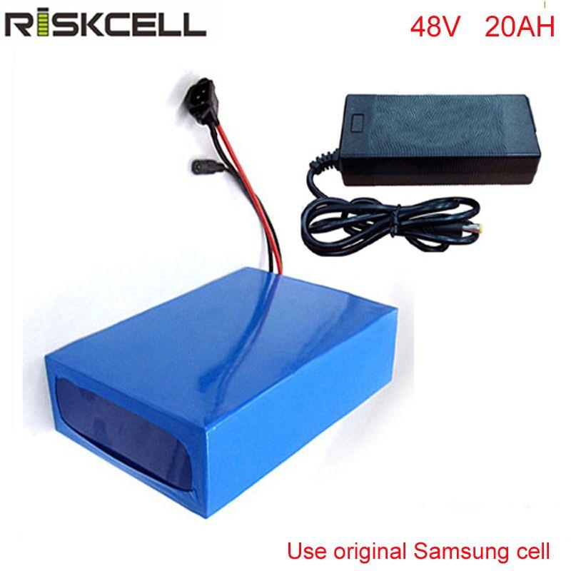 Батарея Иона лития 48V 20AH 1000W для электрического велосипеда с заряжателем 54.6 V 2A ,BMS для клетки Samsung