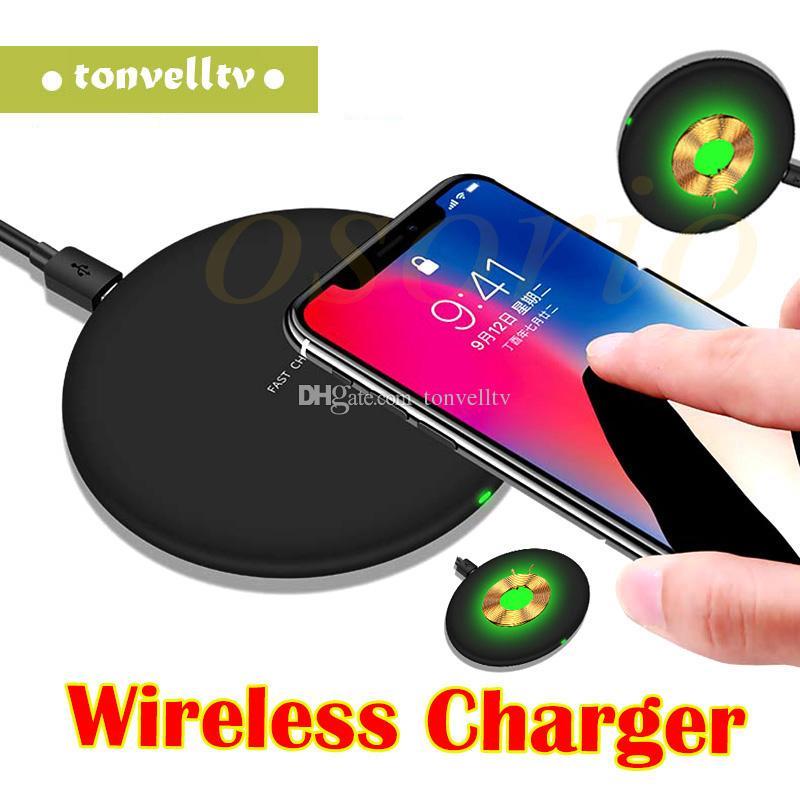 Caricabatterie wireless universale 9V 1.67A 5V 2A Qi Caricabatterie rapido Ricarica rapida Per Samsung Galaxy S7 Edge S8 Plus Nota 8 7 Iphone 8 X con confezione