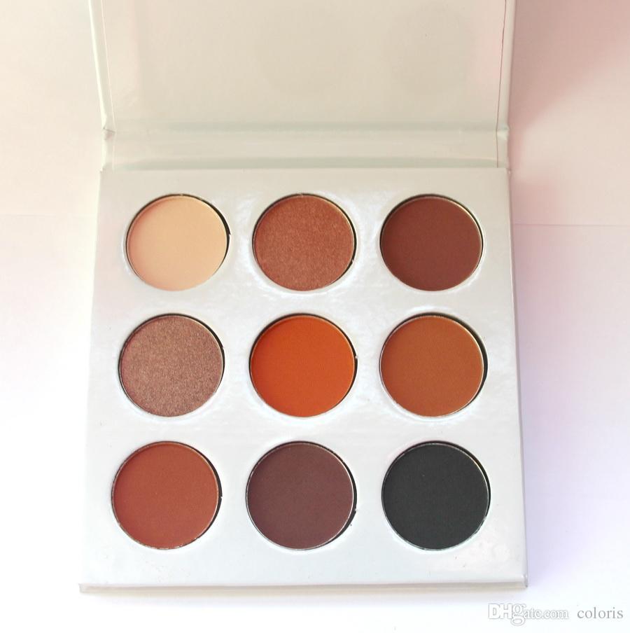 Maquillaje 9 Color Bronce Sombra de ojos Paleta Polvo Polvo Poletes Fácil de usar Brighten Matte Metálicado Sombra