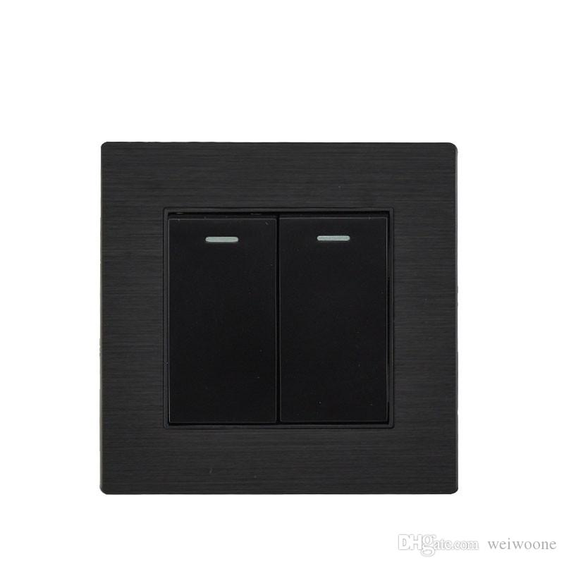 2020 Black Color Wall Switch And Magnalium Panel 10a 220