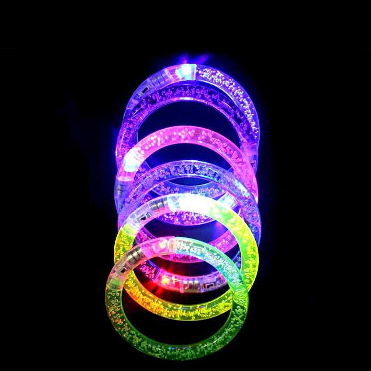 Led Dance Bangle New Fashion LED Light Up Flashing Bracelet Bangle Wristband Glow Blinking Party Christams Gift
