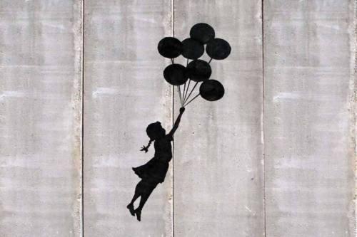 بانكسي بالونات فتاة الفن الحرير المشارك 20x30 24x36 24x43