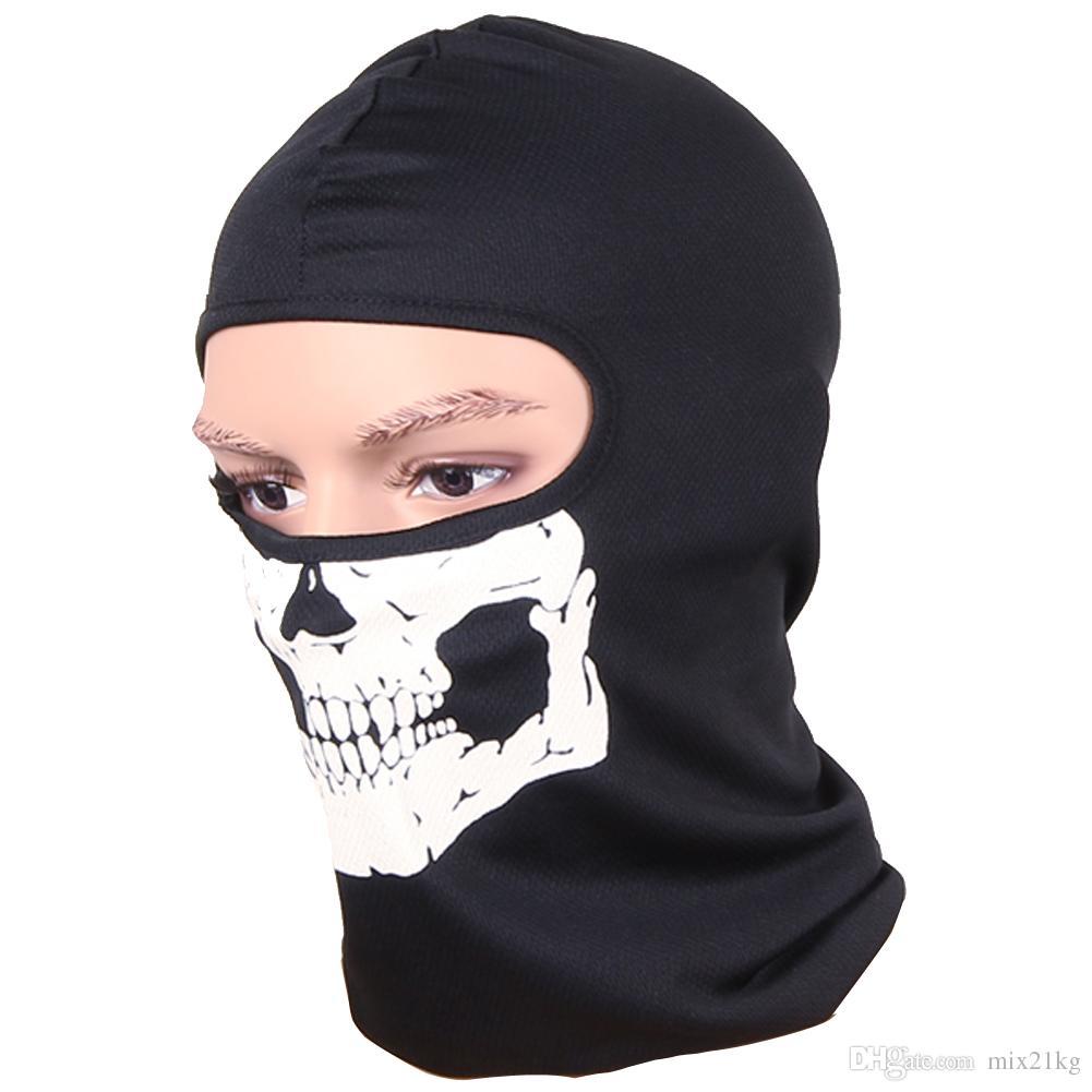 Máscaras de Rosto de ciclismo Balaclava Crânio Esportes Ao Ar Livre Da Bicicleta Da Bicicleta Skate Motocicleta Fantasma Esqui Chapéu de Equitação Proteger a Máscara de Rosto Cheio