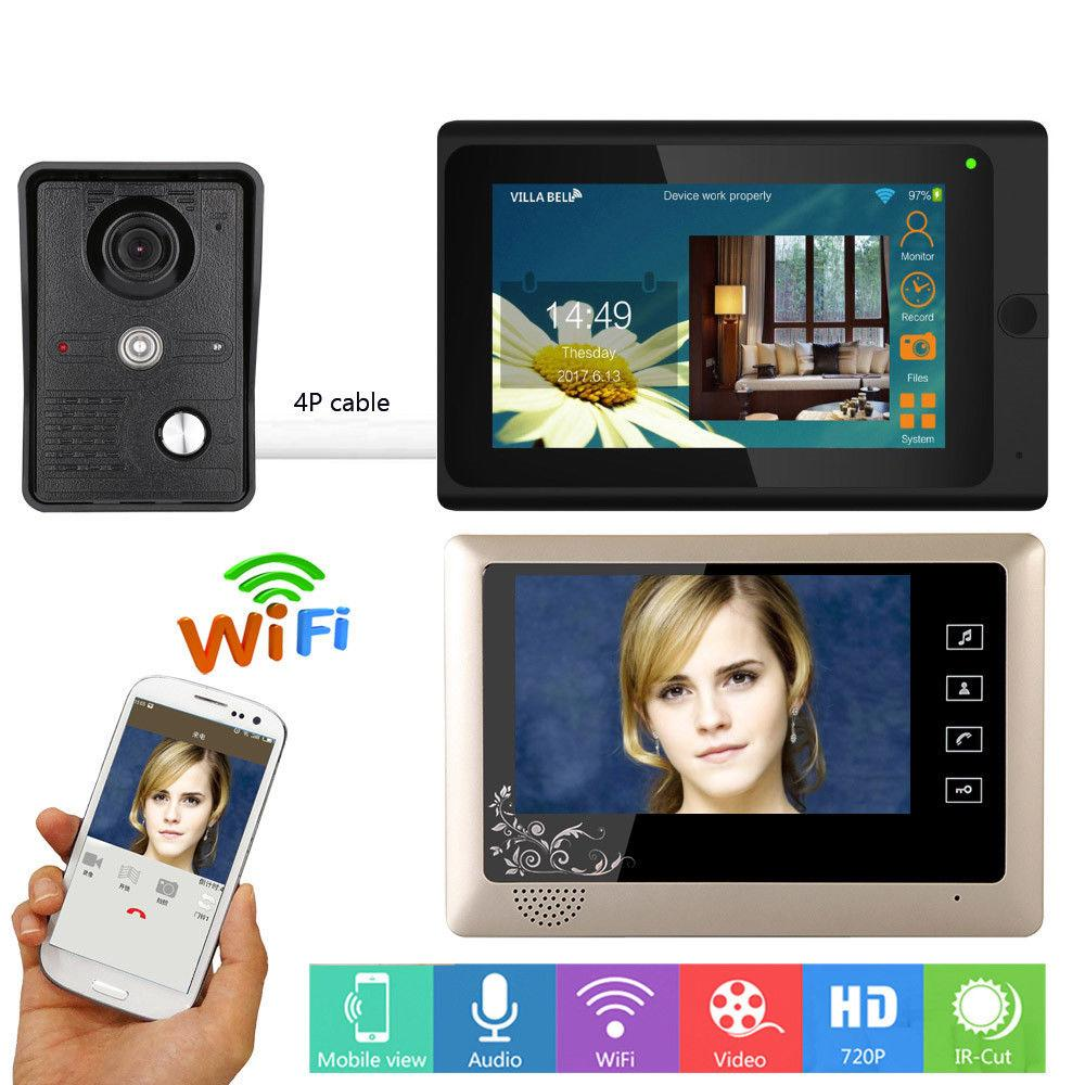 7 inch wireless wired Video Door Phone Video intercom Doorbell mobile Remote control