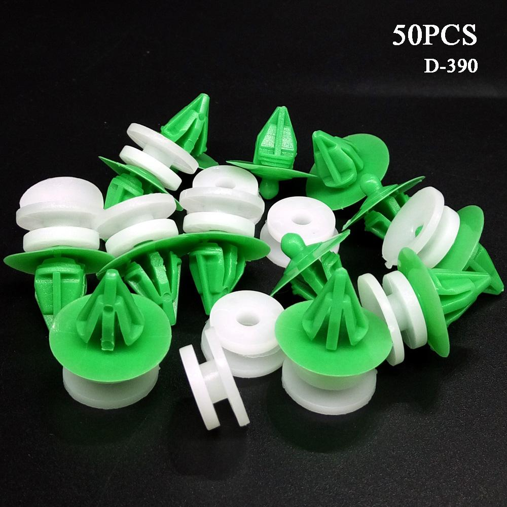 hotsale 50PCS Auto Plastic Clips Car Door Trim Panel Lining Board Side Skirts Fasteners Clamp for Benz Land Rover Range Rover