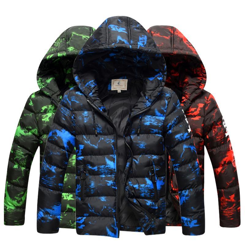 2018 Enfants veste d'hiver Enfants Garçons Décontracté Manteau À Capuche Vêtements De Bébé Outwear enfants Veste De Neige Taille: 7T 9T 10T 12T 14T