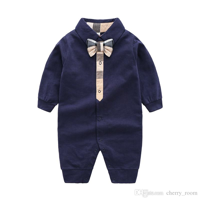 Primavera outono bebê menino macacão roupa da menina do bebê recém-nascido da manta curva minúscula algodão macacão menino romper menina macacão para 0-24 meses X026