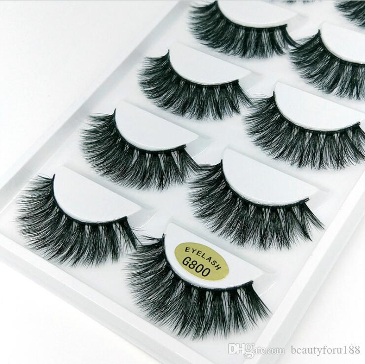 3D Mink Reusable False Eyelashes 100% Real Siberian 3D Mink Hair Strip False Eyelash Makeup Long Individual Eyelashes Mink Lashes Extension