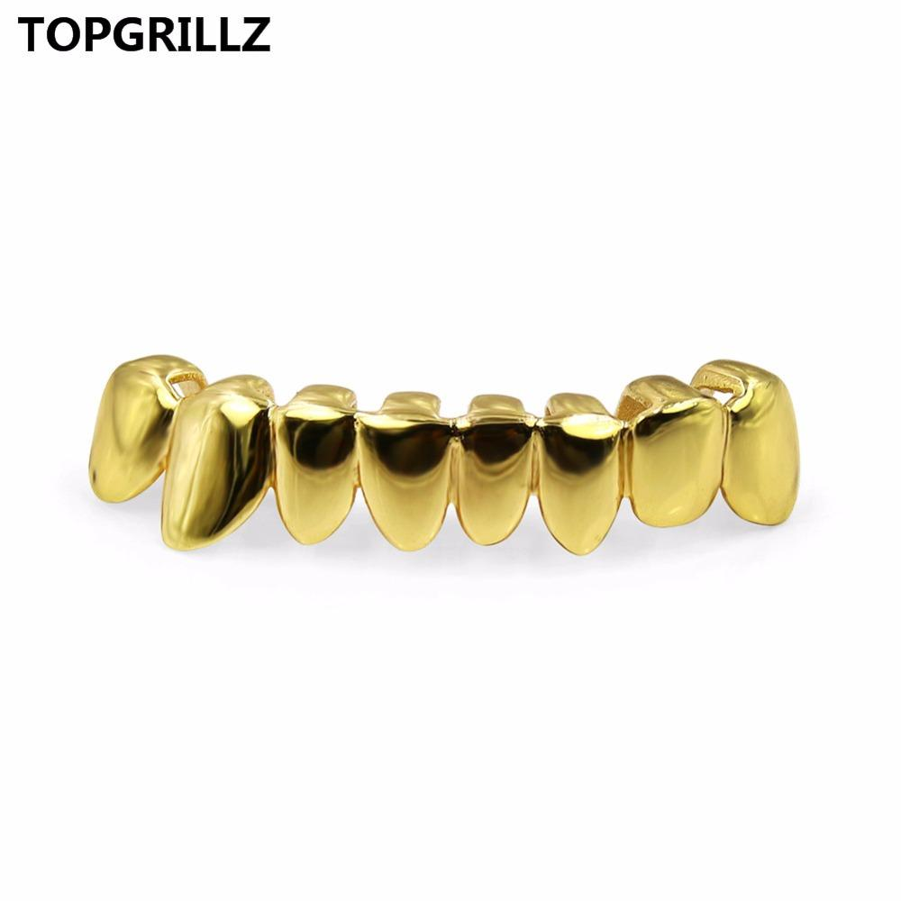 TOPGRILLZ GOLD GOLD COLOR PLATED DRIP STYLE Denti GRIGLIA DRIPPING Bottom GRILLZ Shaped Tooth Grills