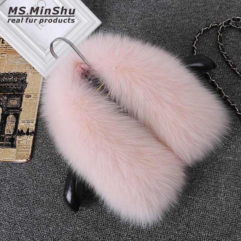 Real Fox Fur Collar Women 100% Natural Fox Fur Scarf Winter Neck Warmer Jacket Fur Collar Short Scarves for Men and Women