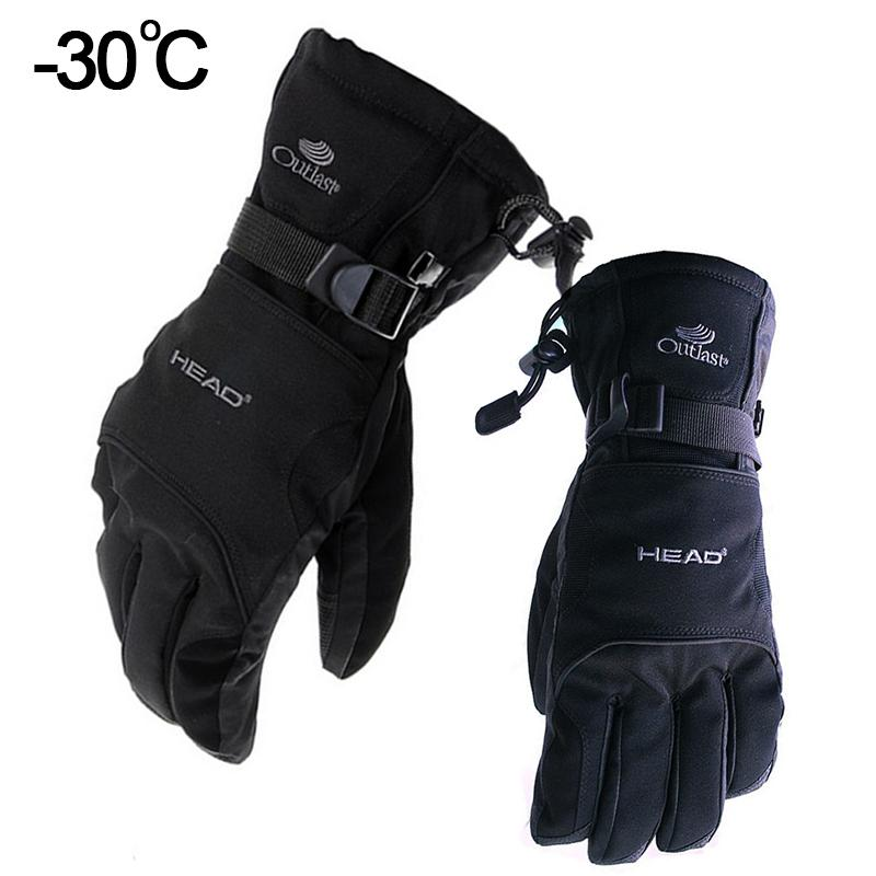 Snow Head Ski Waterproof -30C Degree Winter Warm Snowboard Gloves Men Women Motocross Windproof Cycling Motorcycle Glove C18111501