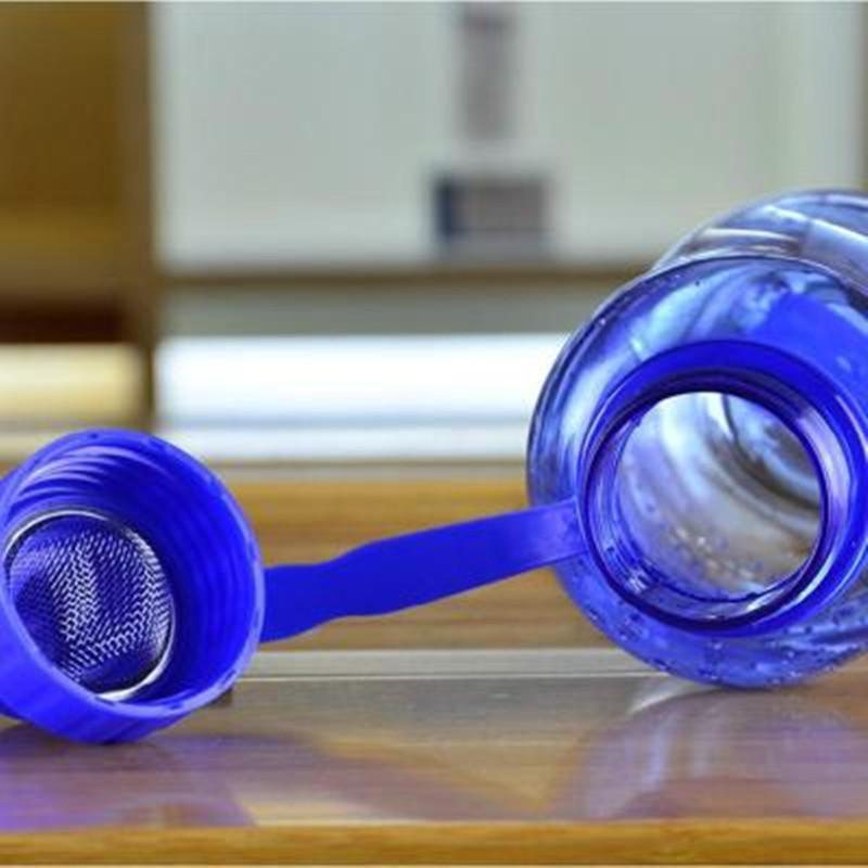 800ml / 1000ml bottiglia creativa di acqua di sport a perfetta tenuta bottiglia di plastica a grande capacità Outdoor / Arrampicata bottiglia di acqua preferita 2019