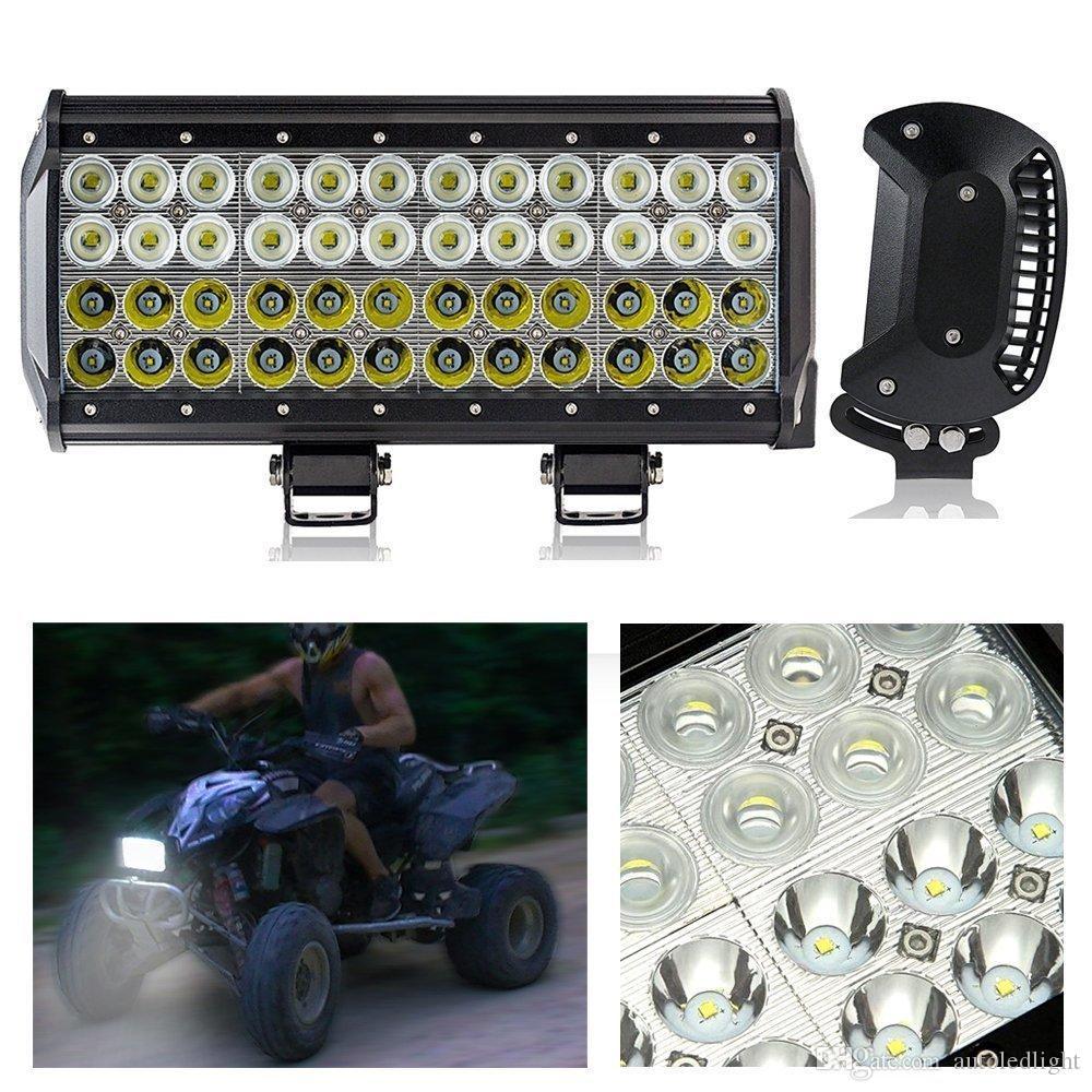 12 INCH 144W LED WORK LIGHT BAR SPOT FLOOD 4x4 OFFROAD UTE BOAT TRUCK 12 24V