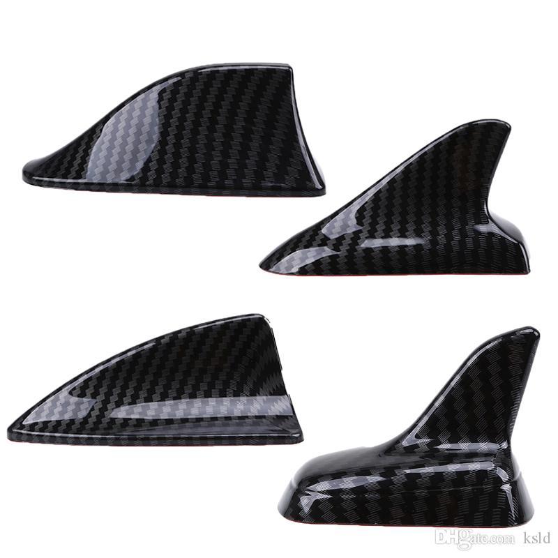 السيارات السيارات العالمي القرش زعنفة سقف ديكور تزيين الهوائي هوائي تقليد ألياف الكربون ملصقات السيارات أجزاء الخارجية
