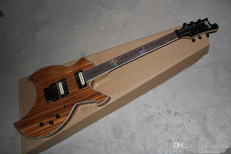 Anarquía memorial doble oscilación guitarra eléctrica registro a rayas de cebra doble pickup