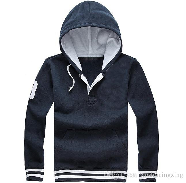 New Men 's Sports Hooded Sweater Man sports clothing Cotton material stripe pullover Hoodies Sweatshirts casual coats