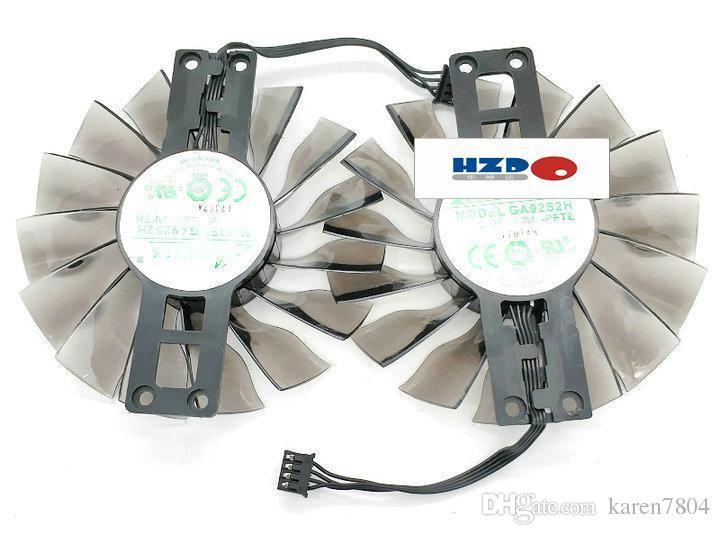 الأصلي لبطاقة الرسومات AMD PLD05010S12HH مروحة قطرها 58 ملم الملعب 46 مم ZOTAC GTX960 970 980 980ti GA92S2H -PFTE -PFTH