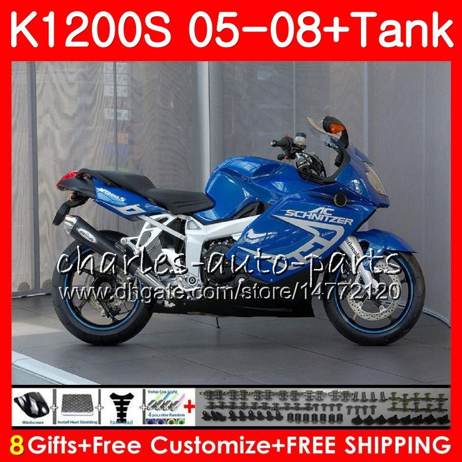Frame Blue Ciało dla OEM K-1200S K 1200 S 05 10 K1200 S 05 07 08 09 10 103HM.36 K 1200s K1200S 2005 2006 2007 2008 2009 2010 Kit