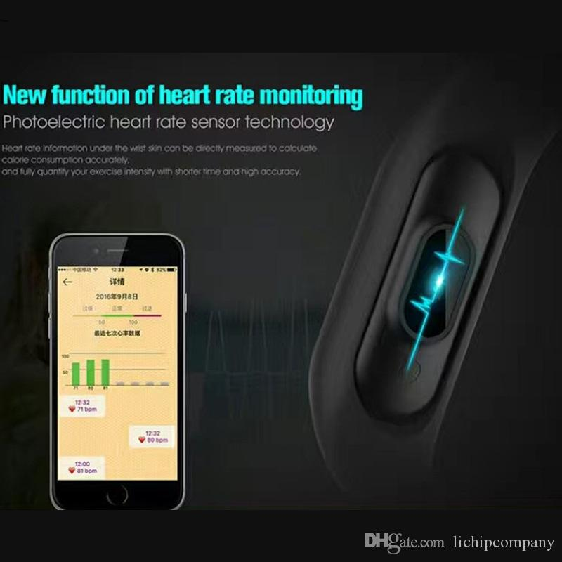 Lichip L201 M2 Smart Bracelet Band Wristband Waterproof Heart Rate Monitor  Phone Call Remind Pedometer Connect With Android And Ios Best Wristband