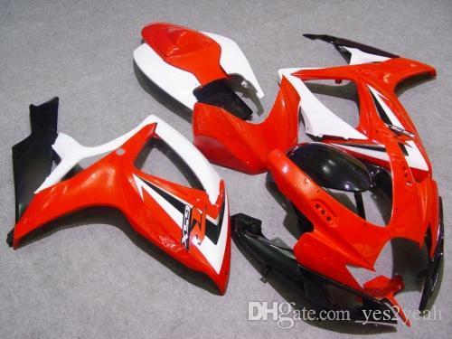 Red White Fairing Kit för Suzuki GSXR600 750 06 07 GSX-R600 750 GSXR 600 GSXR 750 K6 2006 2007 Fairings Set