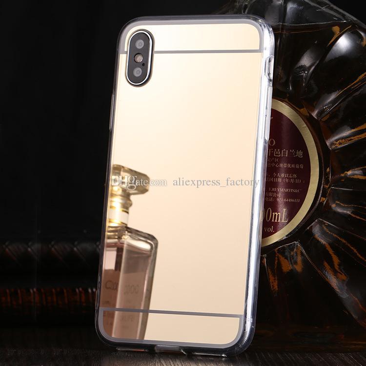 거울 전기 도금 케이스 TPU 도금 보호 커버를 들어 아이폰 (11) 프로 맥스 XS XR X 8 7 6 6S 플러스 삼성 갤럭시 S10 E 주 9 M10 M20 A30