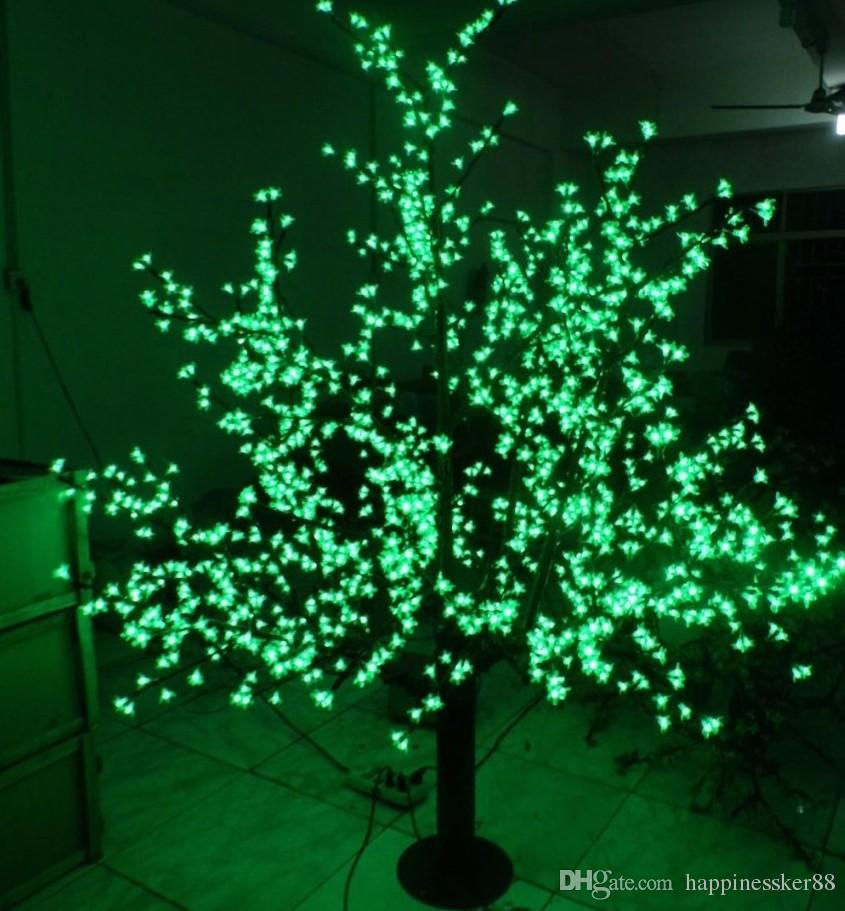 LED Artificial Cherry Blosom Tree Light Christmas Light 1536pcs LED Bulbs 2m / 6.5 ft Height 110 / 220VAC Rain Outdor Use Free Shipping