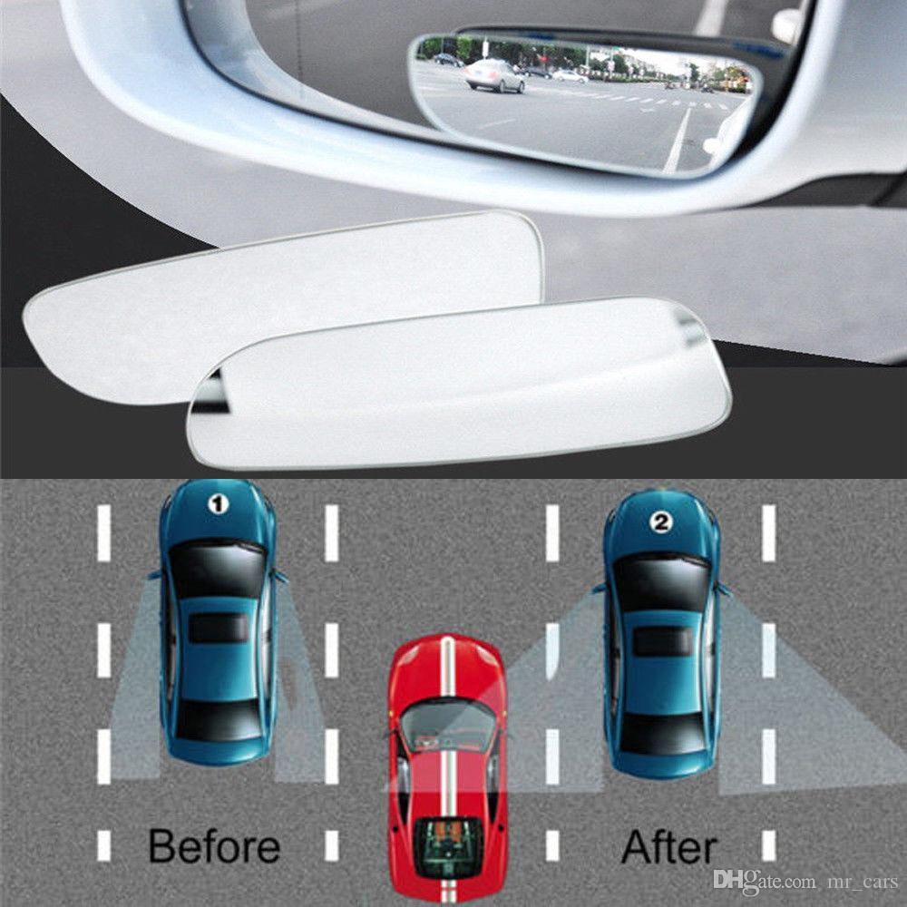 2 piezas de Auto 360 ° convexo granangular Vista lateral trasera punto ciego espejo para el coche HQ GGA141