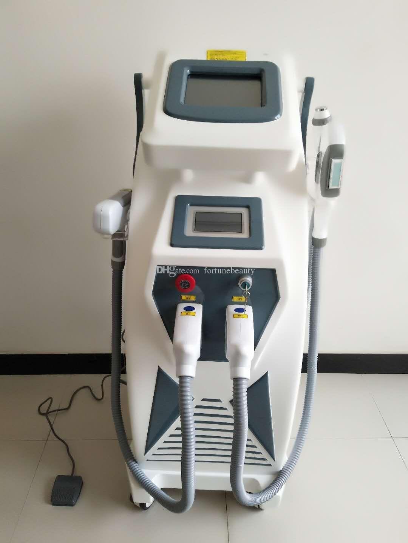 2018 má popüler 3 en 1 OPT SHR IPL + máquina de la belleza del lazer de Nd Yag Lazer + RF